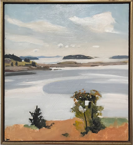 Fairfield Porter, (1907-1975), Untitled Landscape, 1962, Oil on board, 19 X 21 inches, Signed and dated lower right
