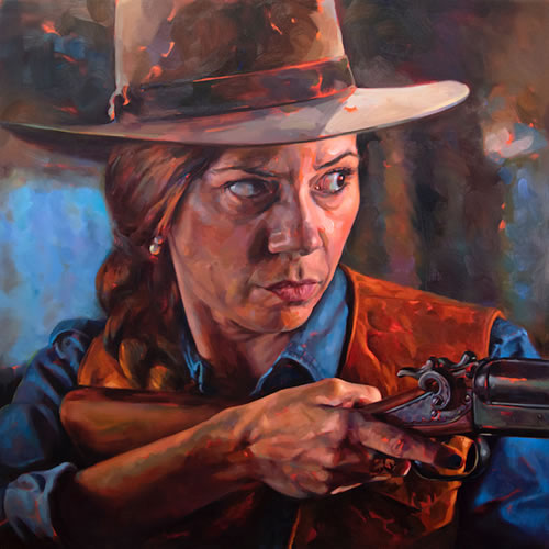 Felice House - painting entitled Wilhelmina Eastwood in Unforgiven