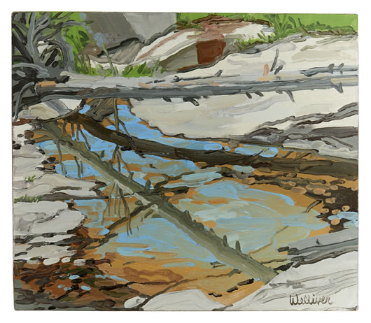 Neil Welliver, (1929-2005), Study for Prospect Brook, 1994, Oil on linen, 20 x 20 inches, Signed lower right (BP#NW-7879)